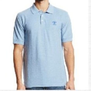 Beverly Hills POLO CLUB Heather Pique Blue Shirt